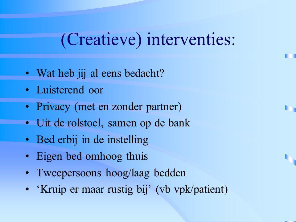 (Creatieve) interventies: