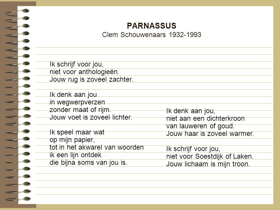 PARNASSUS Clem Schouwenaars 1932-1993