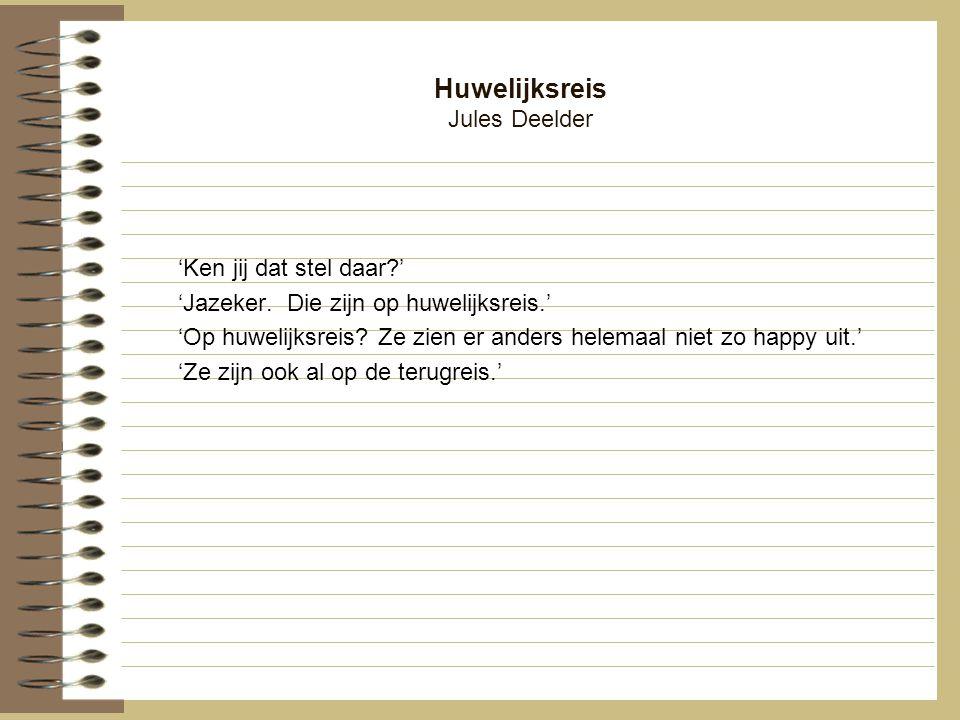 Huwelijksreis Jules Deelder