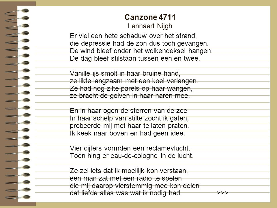 Canzone 4711 Lennaert Nijgh