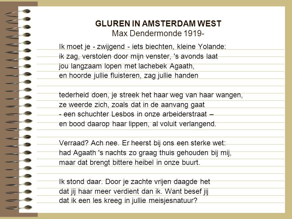 GLUREN IN AMSTERDAM WEST Max Dendermonde 1919-