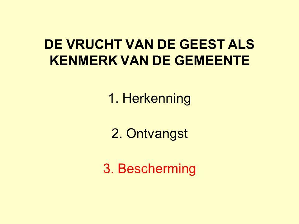 DE VRUCHT VAN DE GEEST ALS KENMERK VAN DE GEMEENTE