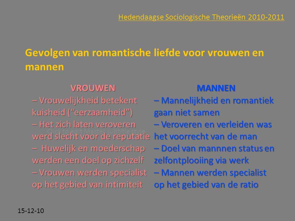 Gevolgen van romantische liefde voor vrouwen en mannen