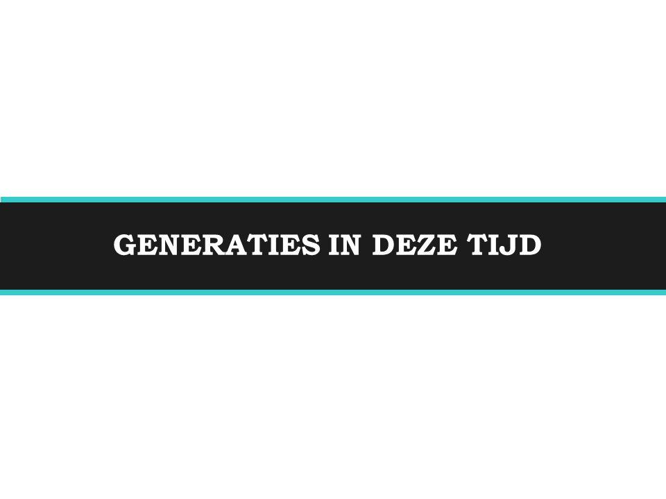 GENERATIES IN DEZE TIJD