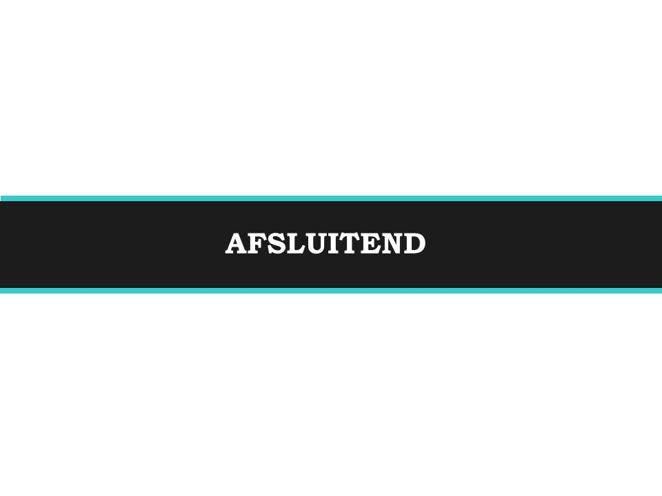 AFSLUITEND