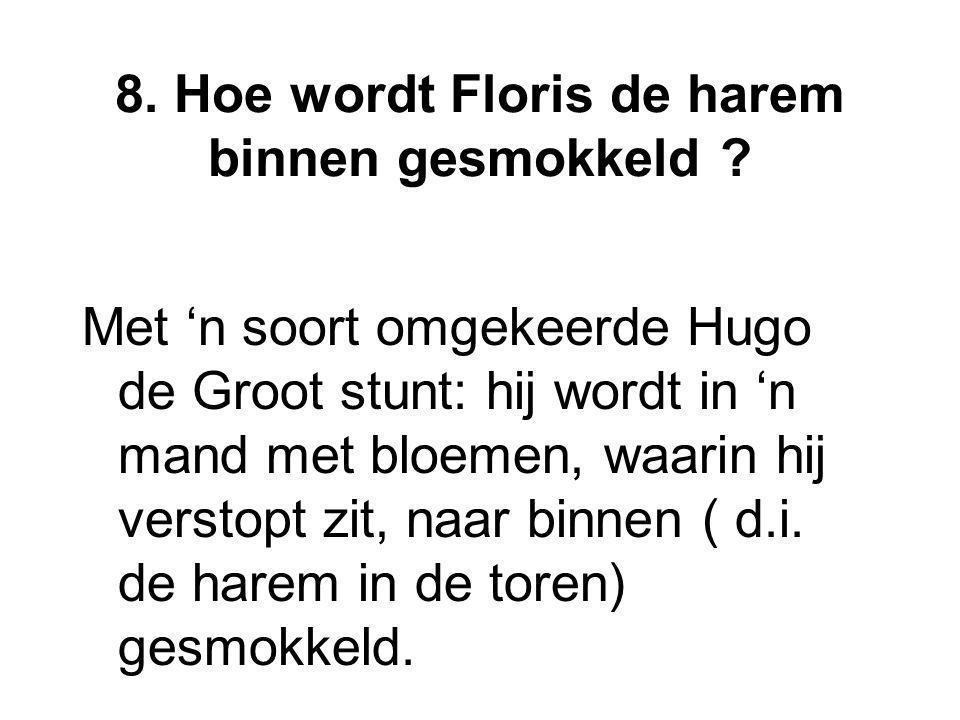 8. Hoe wordt Floris de harem binnen gesmokkeld