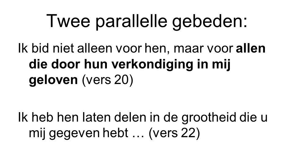 Twee parallelle gebeden: