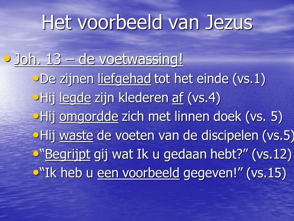 Het voorbeeld van Jezus