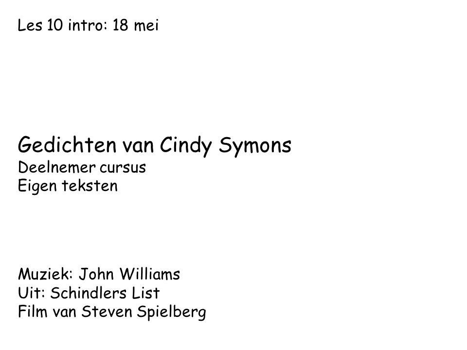 Gedichten van Cindy Symons