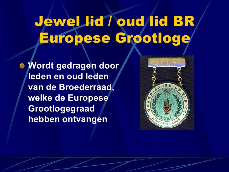 Jewel lid / oud lid BR Europese Grootloge