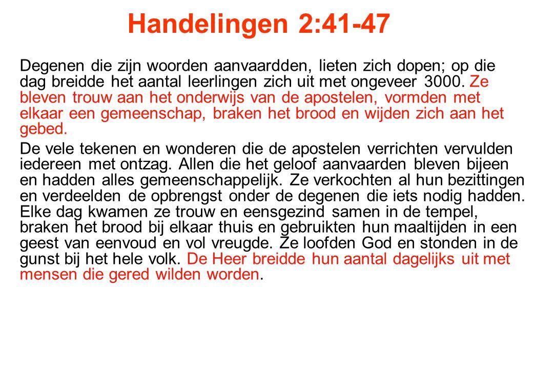 Handelingen 2:41-47
