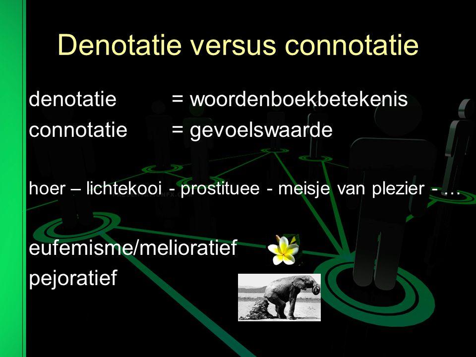 Denotatie versus connotatie