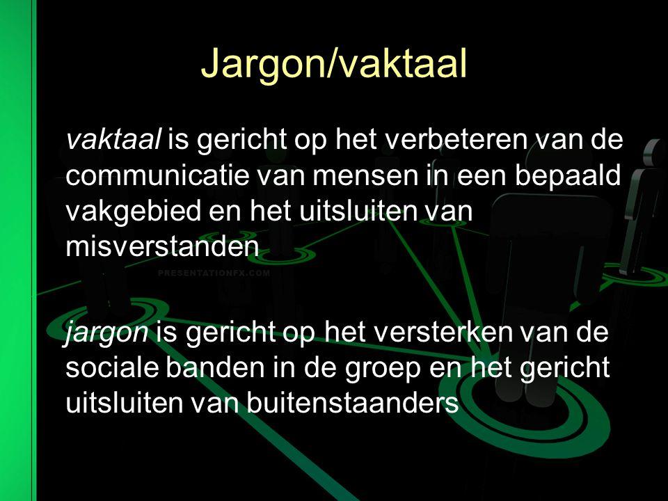 Jargon/vaktaal