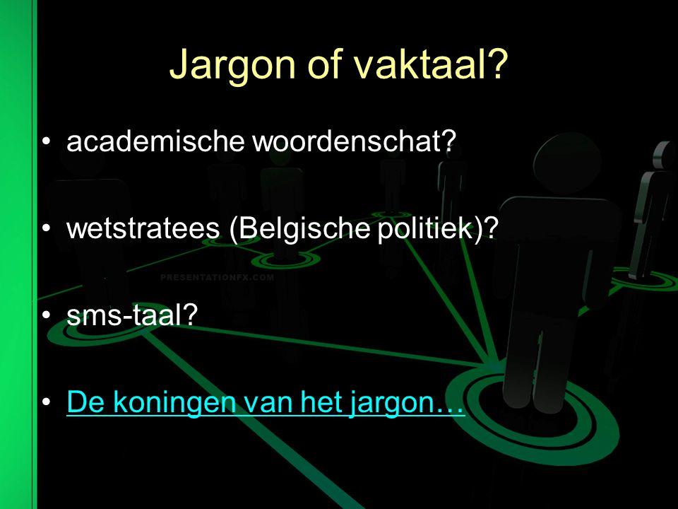 Jargon of vaktaal academische woordenschat