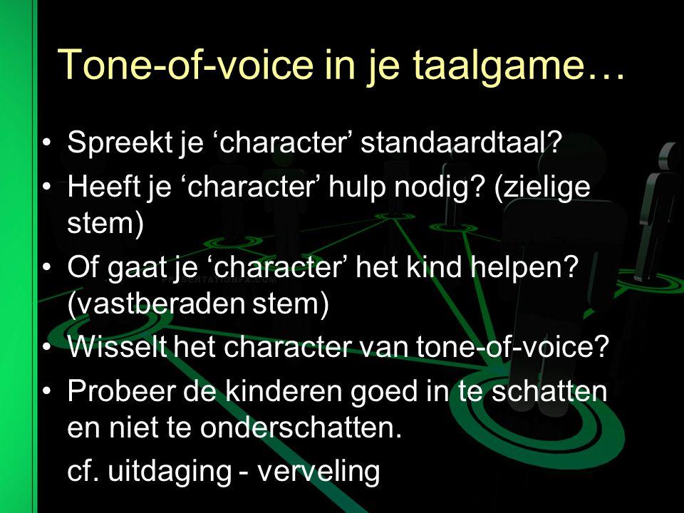 Tone-of-voice in je taalgame…