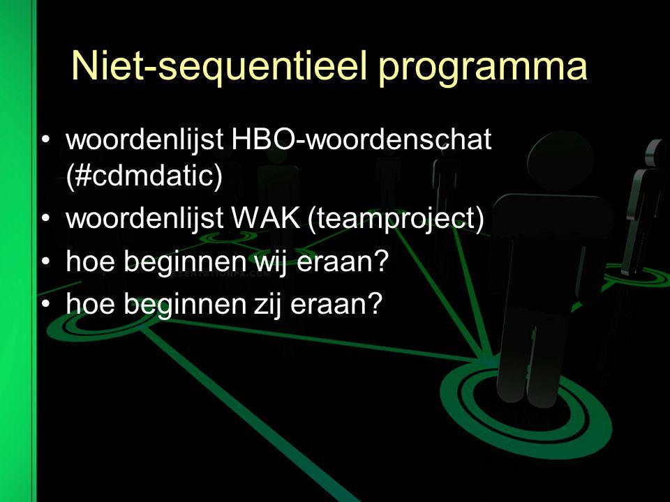 Niet-sequentieel programma