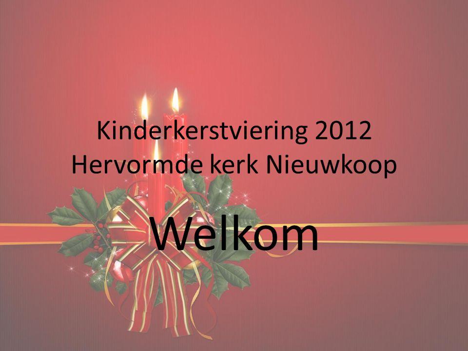 Kinderkerstviering 2012 Hervormde kerk Nieuwkoop
