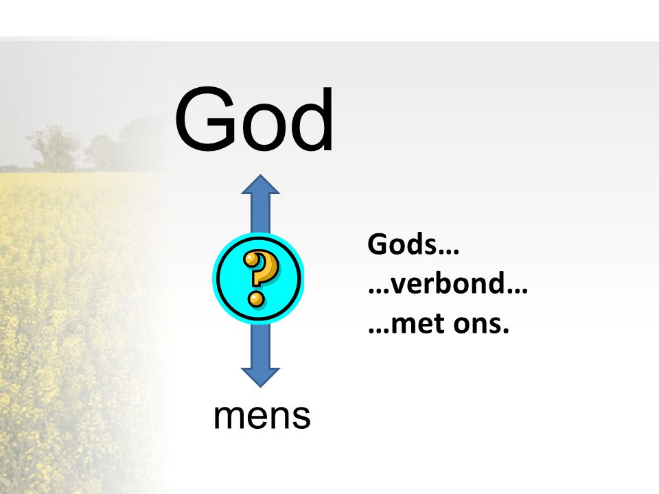 God Gods… …verbond… …met ons. mens