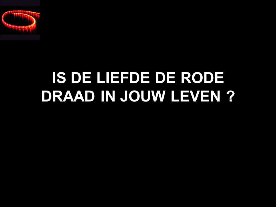 IS DE LIEFDE DE RODE DRAAD IN JOUW LEVEN