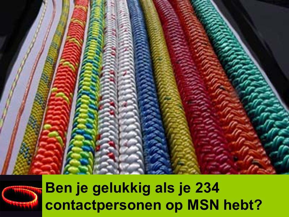 Ben je gelukkig als je 234 contactpersonen op MSN hebt