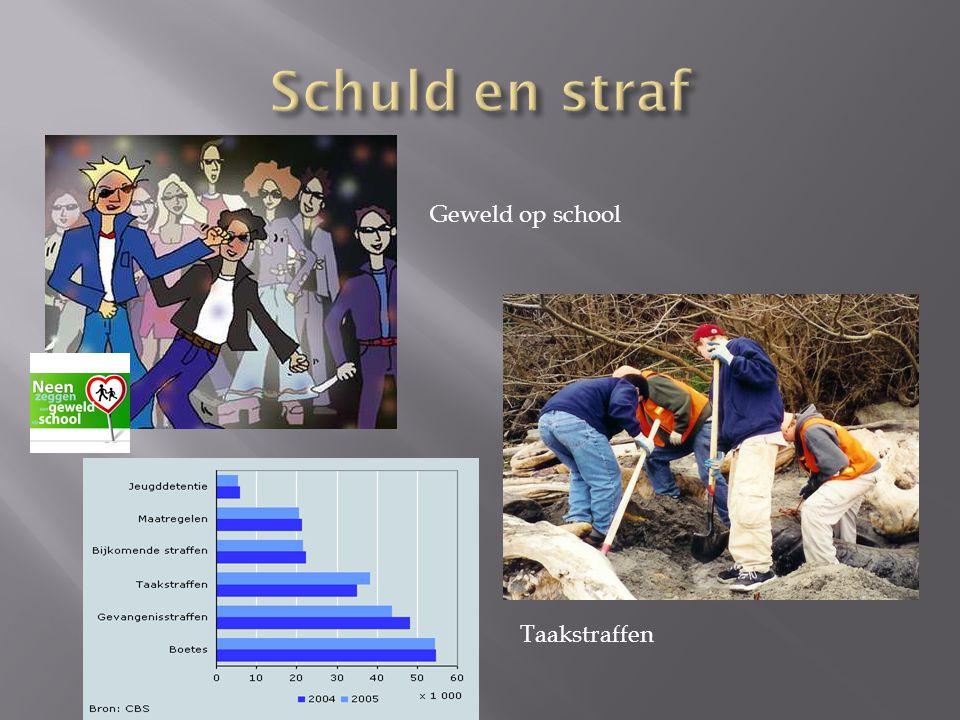 Schuld en straf Geweld op school Taakstraffen