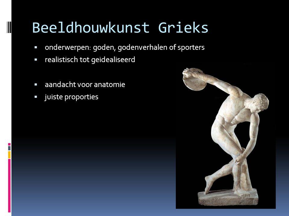 Beeldhouwkunst Grieks
