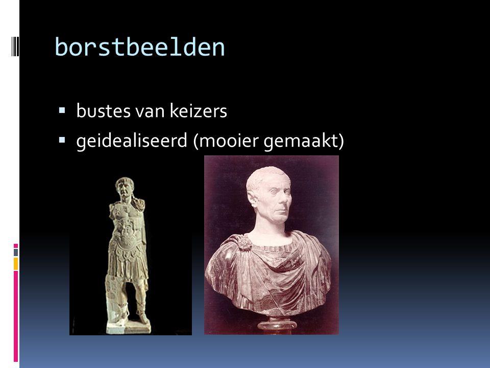 borstbeelden bustes van keizers geidealiseerd (mooier gemaakt)