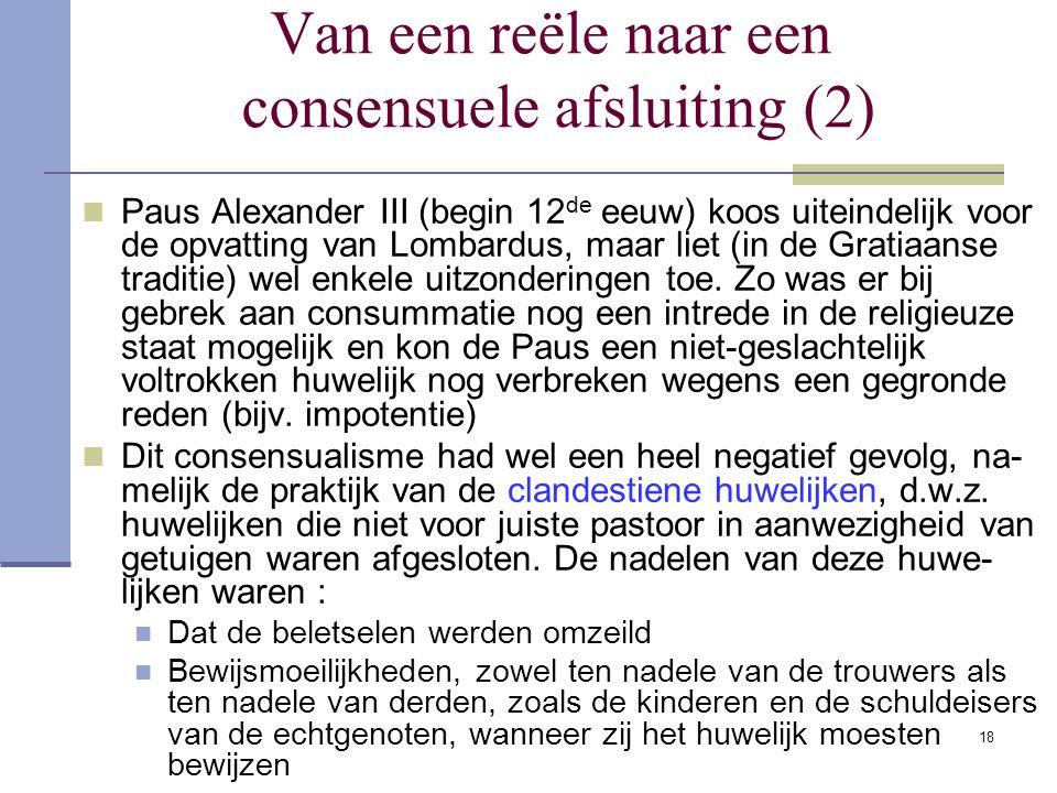 Van een reële naar een consensuele afsluiting (2)