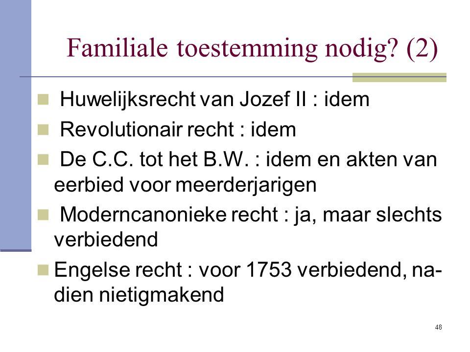 Familiale toestemming nodig (2)