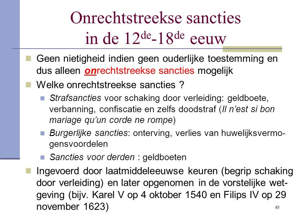 Onrechtstreekse sancties in de 12de-18de eeuw