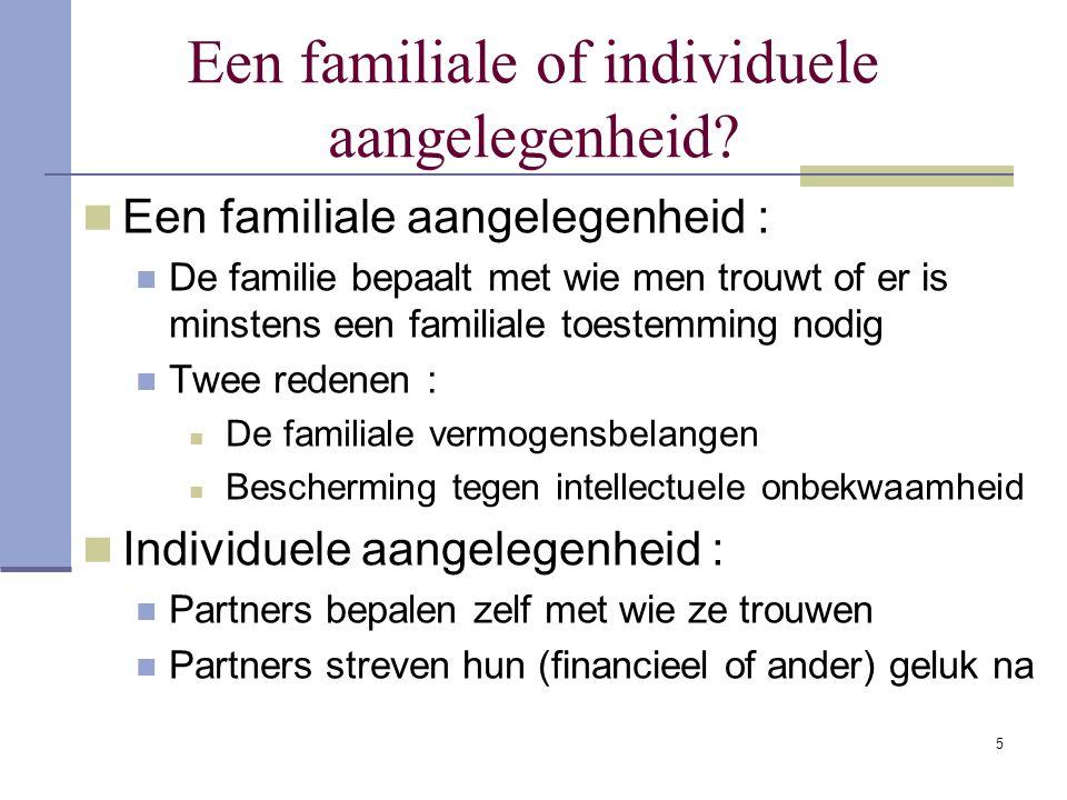 Een familiale of individuele aangelegenheid