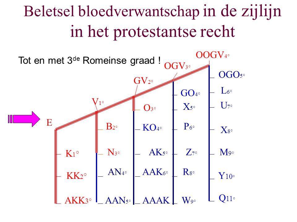 Beletsel bloedverwantschap in de zijlijn in het protestantse recht