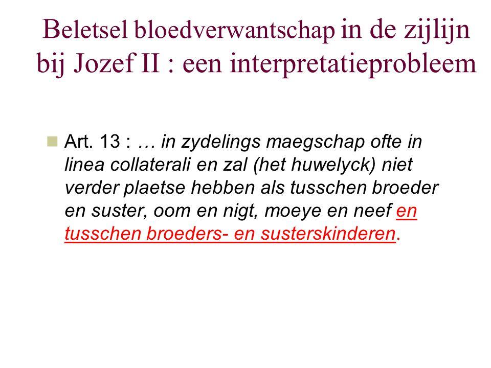 Beletsel bloedverwantschap in de zijlijn bij Jozef II : een interpretatieprobleem