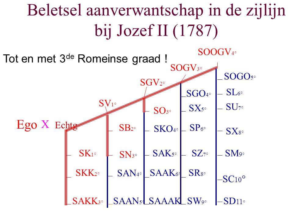 Beletsel aanverwantschap in de zijlijn bij Jozef II (1787)
