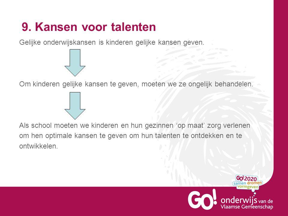 9. Kansen voor talenten
