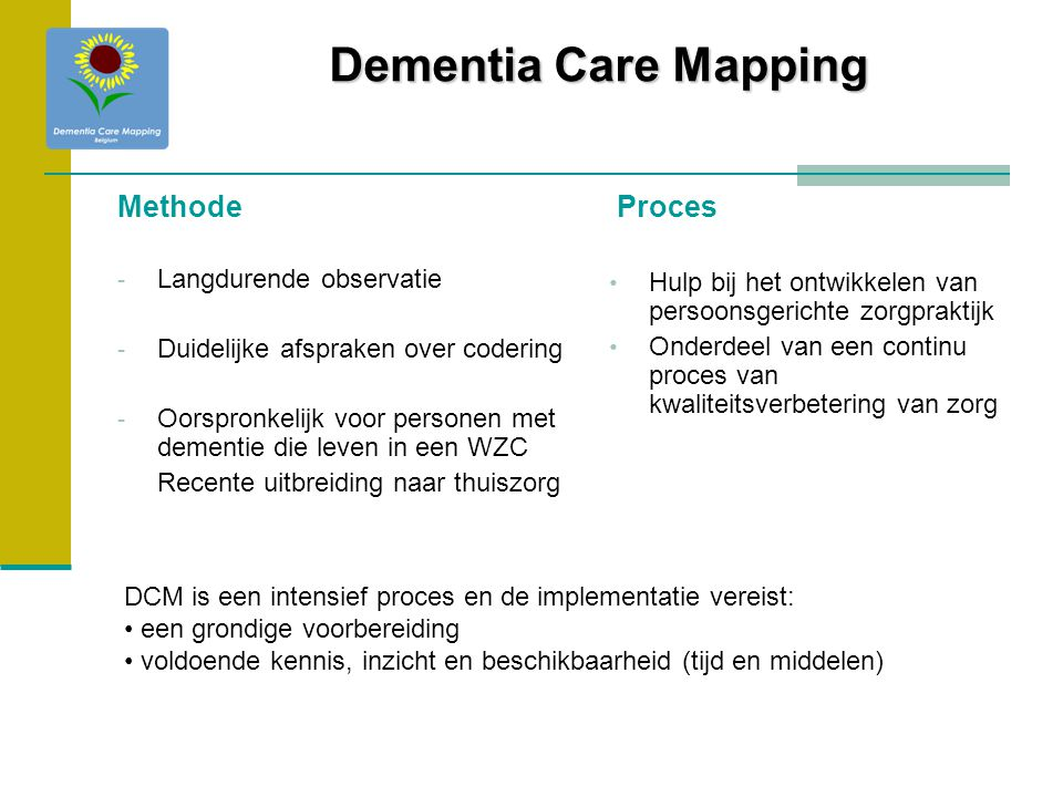 Dementia Care Mapping Methode Proces Langdurende observatie