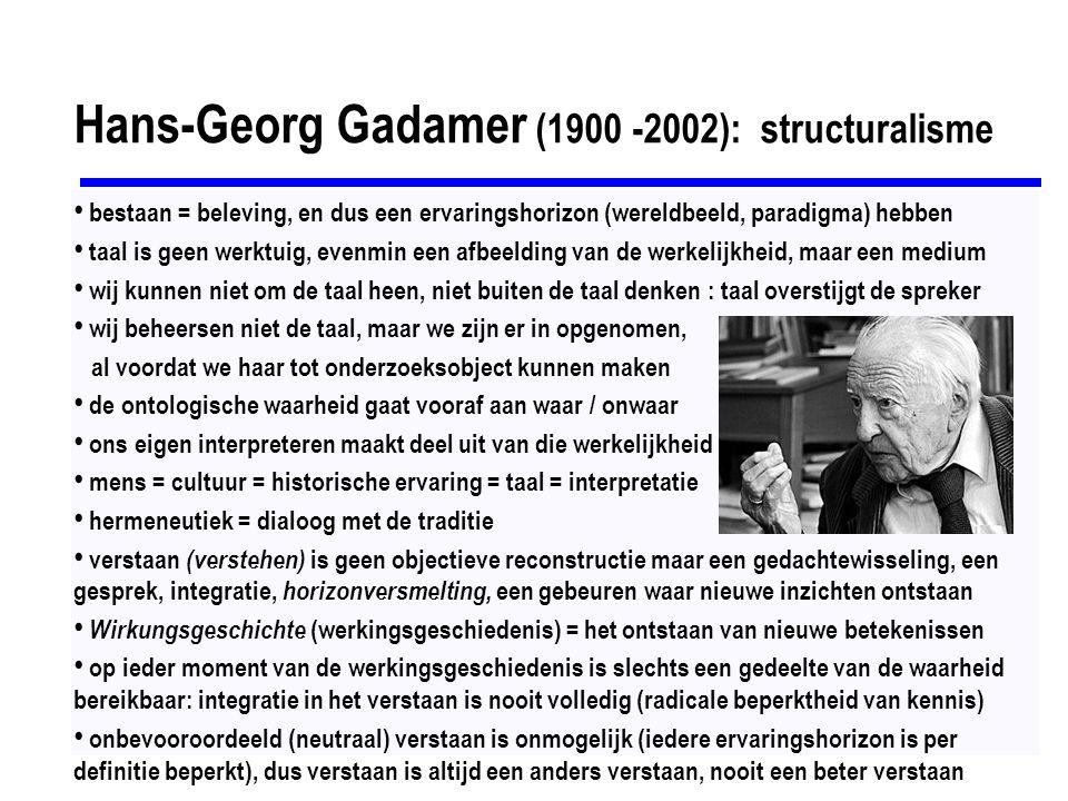 Hans-Georg Gadamer (1900 -2002): structuralisme
