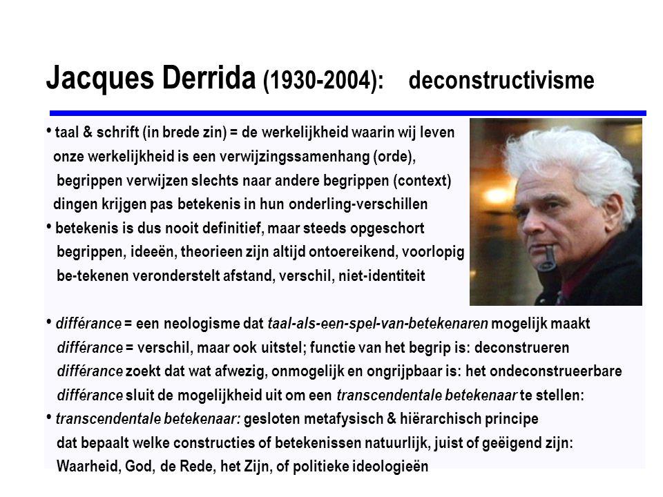Jacques Derrida (1930-2004): deconstructivisme