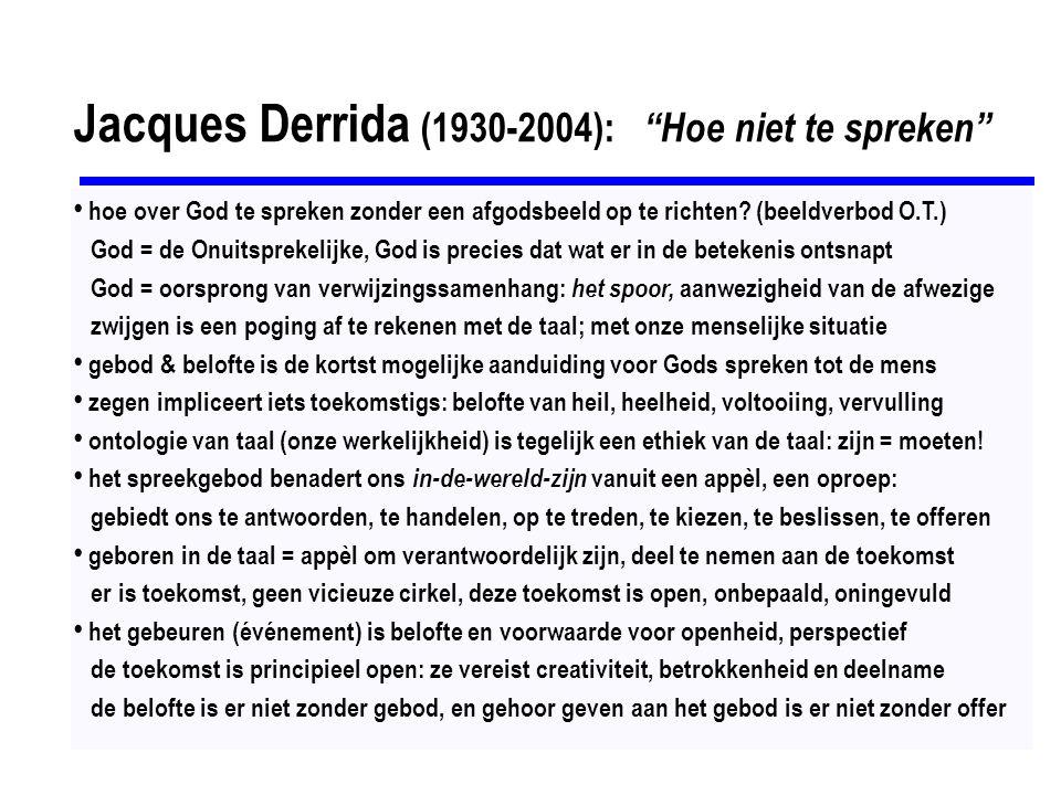 Jacques Derrida (1930-2004): Hoe niet te spreken