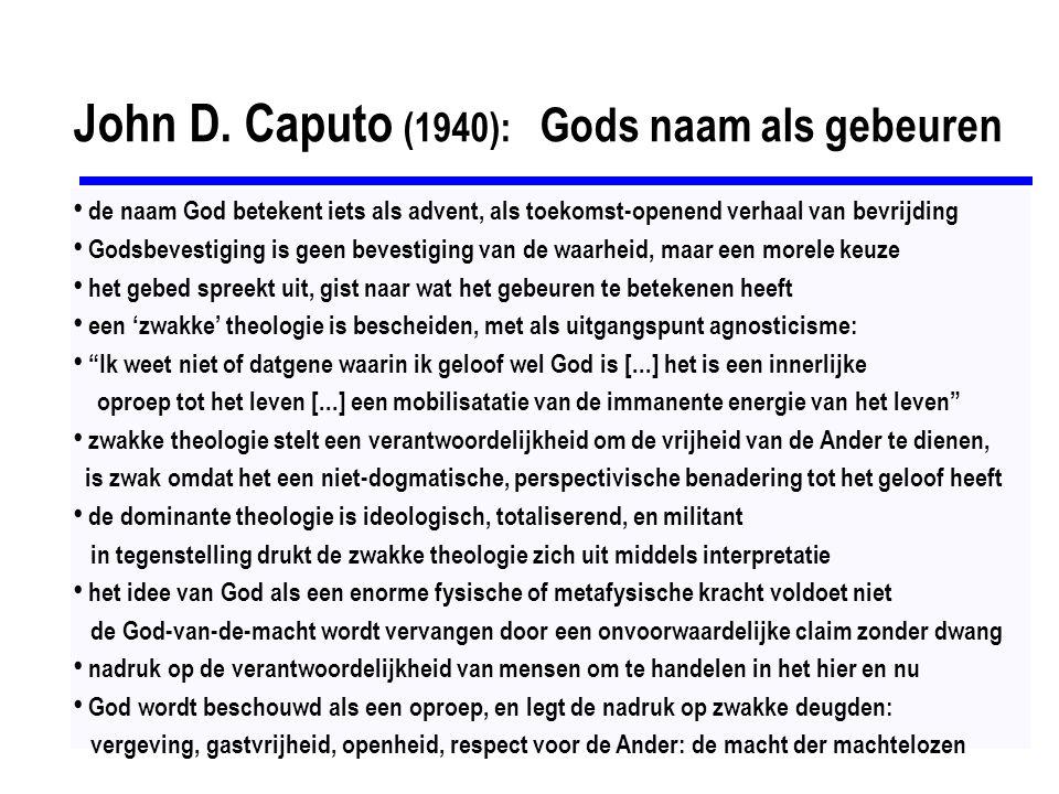 John D. Caputo (1940): Gods naam als gebeuren