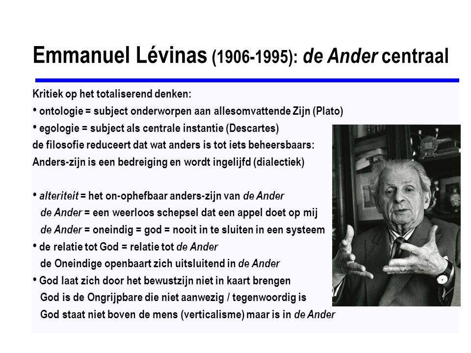 Emmanuel Lévinas (1906-1995): de Ander centraal