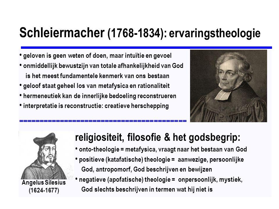 Schleiermacher (1768-1834): ervaringstheologie