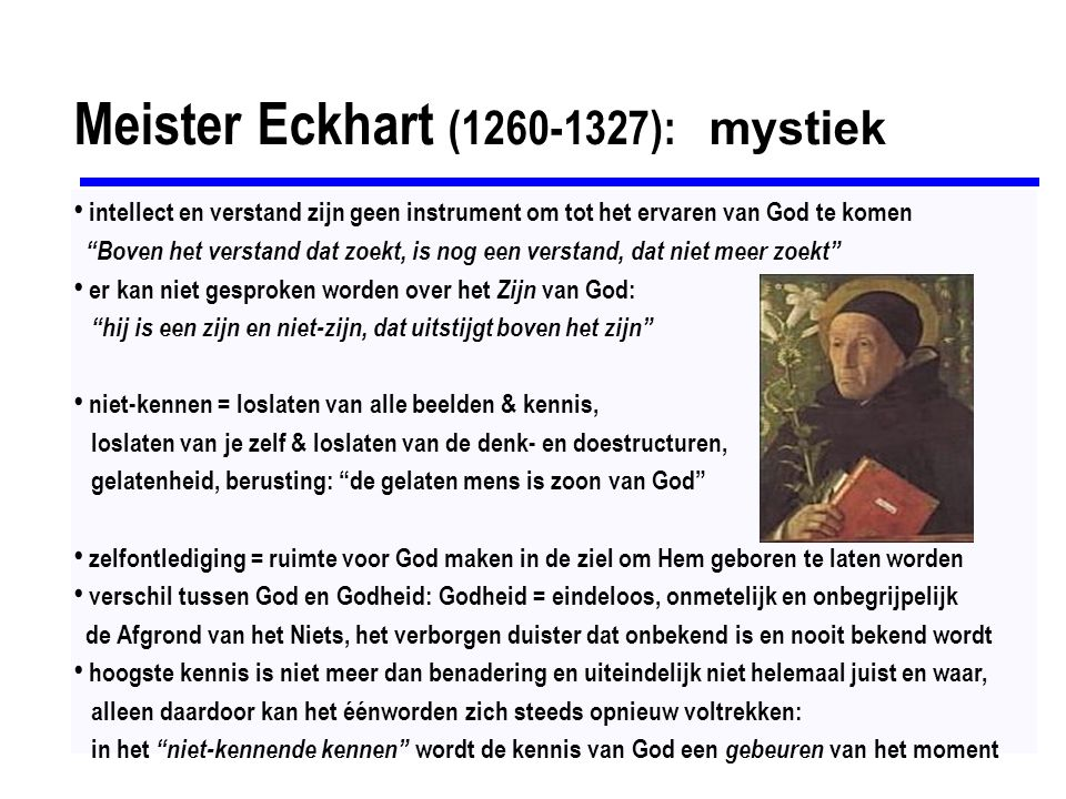 Meister Eckhart (1260-1327): mystiek