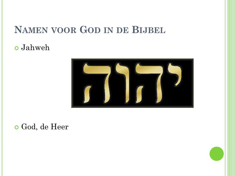 Namen voor God in de Bijbel