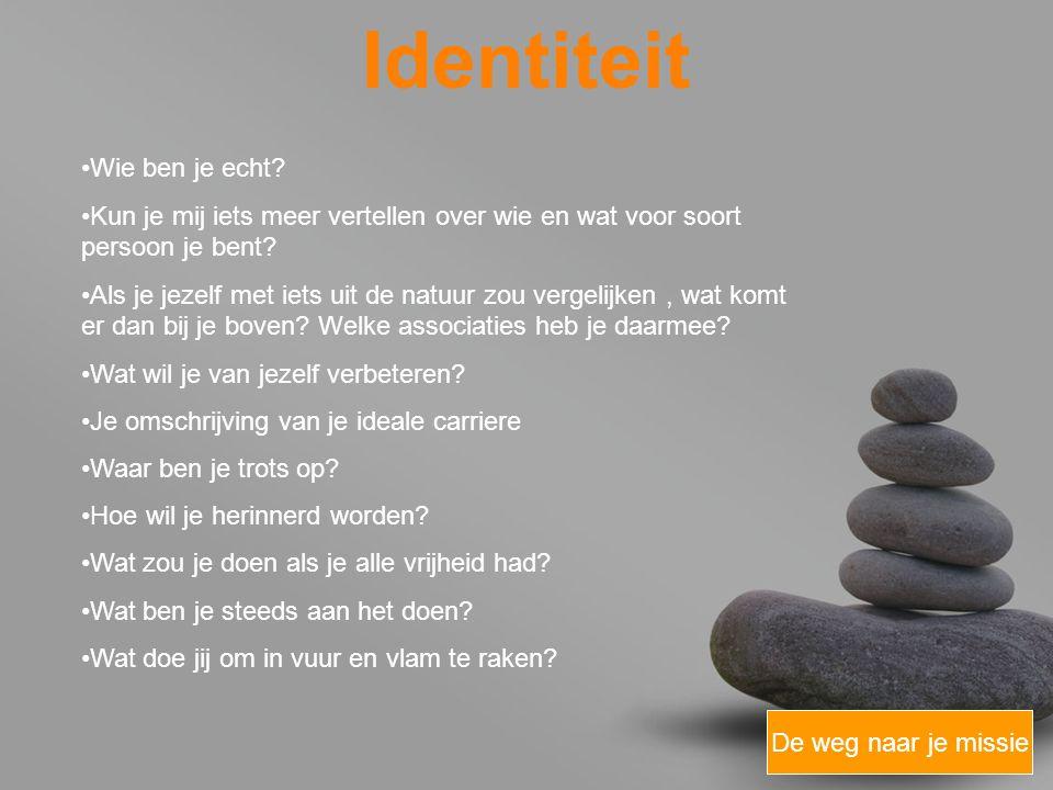 Identiteit Wie ben je echt