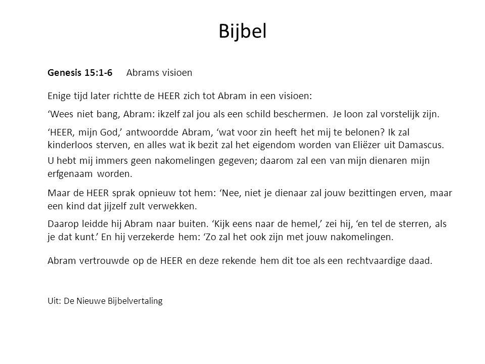Bijbel Genesis 15:1-6 Abrams visioen