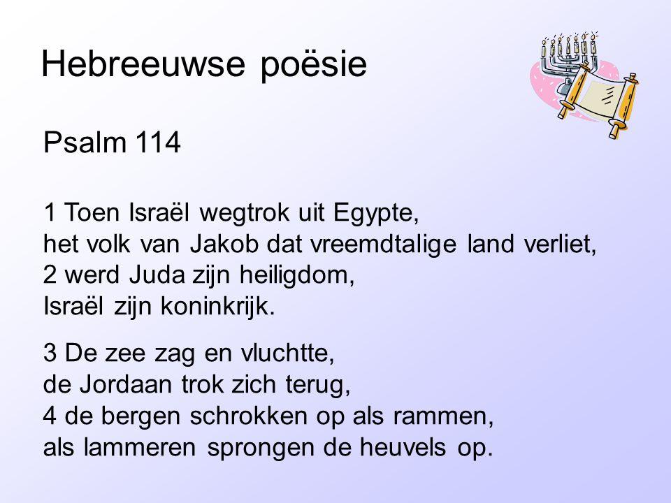 Hebreeuwse poësie Psalm 114
