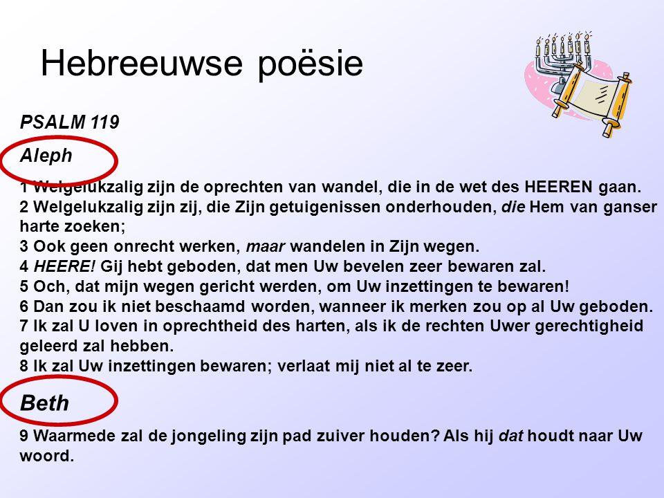 Hebreeuwse poësie Beth PSALM 119 Aleph