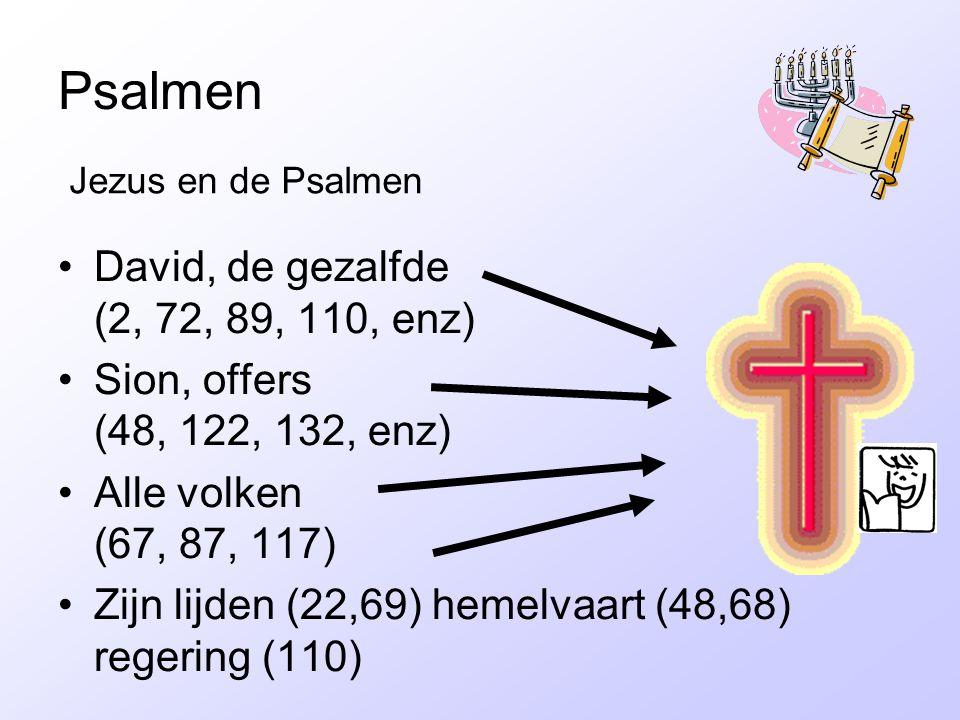 Psalmen David, de gezalfde (2, 72, 89, 110, enz)