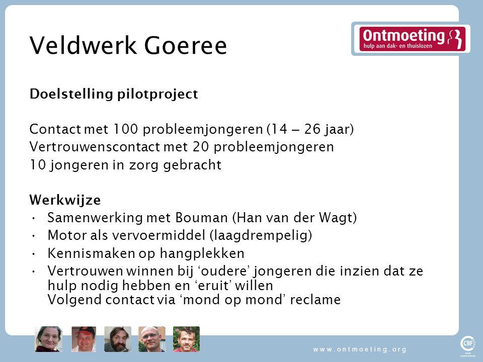 Veldwerk Goeree Doelstelling pilotproject